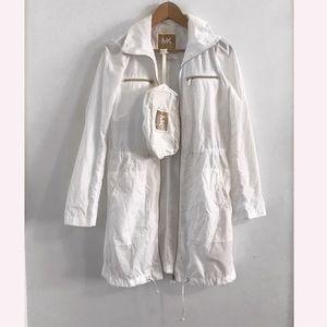 Michael Kors white rain coat jacket size S